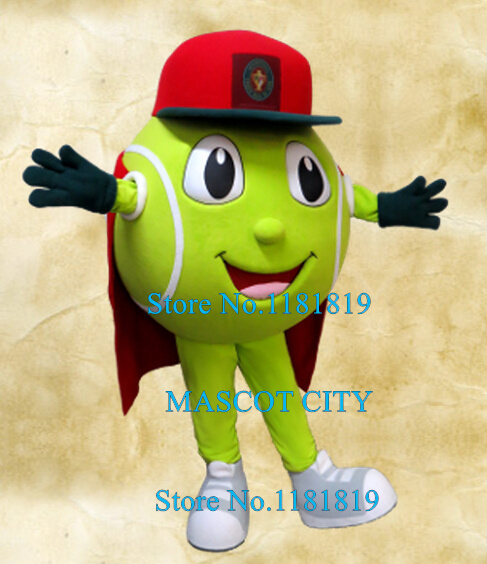 MASCOT SPORT TENNIS BALL mascot costume adult cartoon character theme animes cosplay carnival fancy dress kits for school
