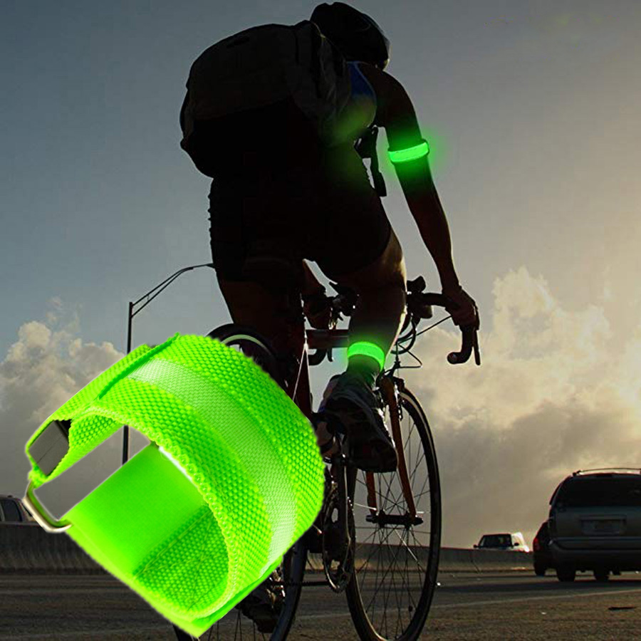 Bicycle Accessories Objective 1 Pcs Unisex Outdoor Cycling Safety Vest Bike Ribbon Bicycle Light Reflecing Elastic Harness For Night Riding Running Jogging