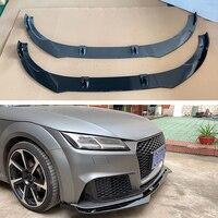 ABS BLACK FRONT LIP BUMPER FIT FOR AUDI TT 2015 2016 2017 2018 Car accessories