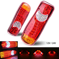 Castaleca 2XTruck Taillight 12 24V Automobiles Car Trailer LED Stop Rear Tail Indicator Fog Lights 6Different