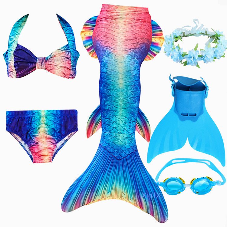 Mother & Kids 2019 New Girls Cosplay Mermaid Tails Costume Little Childrenl Mermaid Swimsuit Kids Swimwear Tail Only No Flipper