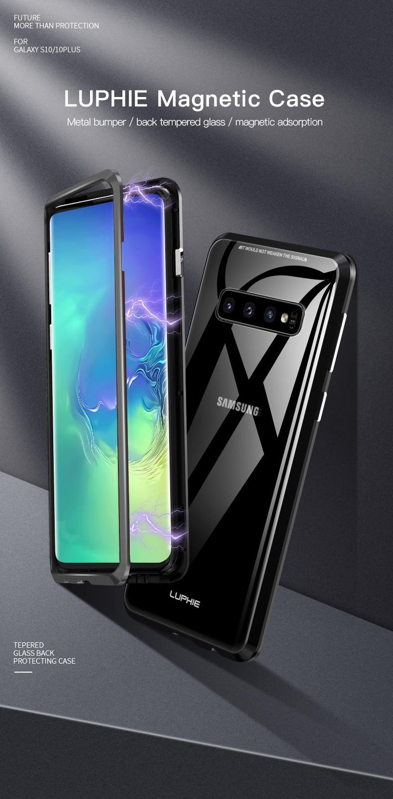 Samsung S10 Plus S10e magnet glass Case (1)