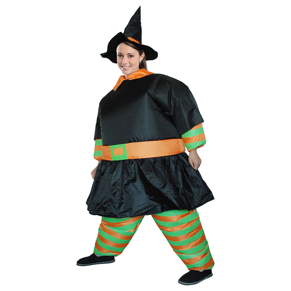 Grim Reaper Scary Halloween Costumes Wrestler Witch Ghost Rider Pumpkin Skeleton Skull Inflatable Illusion Suit Blow Up Suit (1)