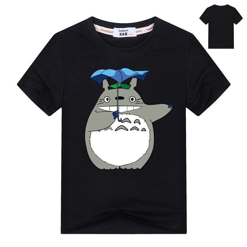Kids Cartoon Totoro Print Cotton T shirt For Girl/Boy Anime T-Shirts for Children Baby Girls  Kawaii Clothing 5