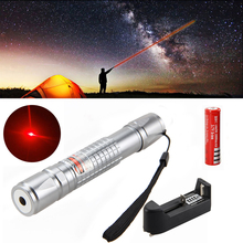 Cheapest prices Waterproof 650nm 1mw Red Laser Verde Pen Lazer Pointer Light High Power Burning Beam for Hunting+18650 Battery+Holster+Charger
