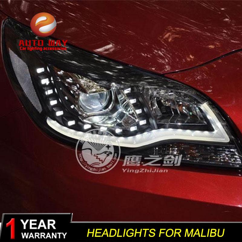 Car Styling Head Lamp case for Chevrolet Malibu Headlights LED Malibu Headlight DRL Lens Double Beam