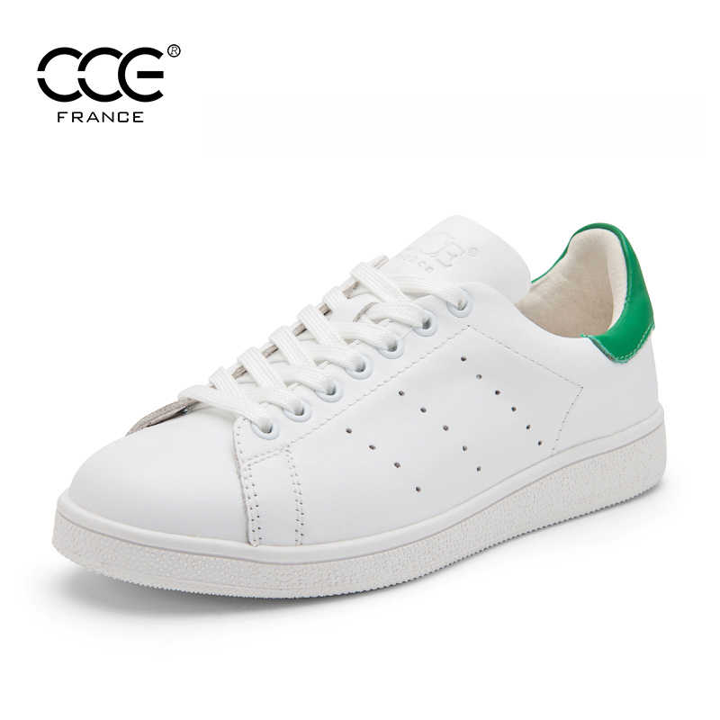 CCE 2017 Fashion Top Quality Genuine cow leather men white shoes Casual  shoes Loafers shoes Flats 470e8e58776a