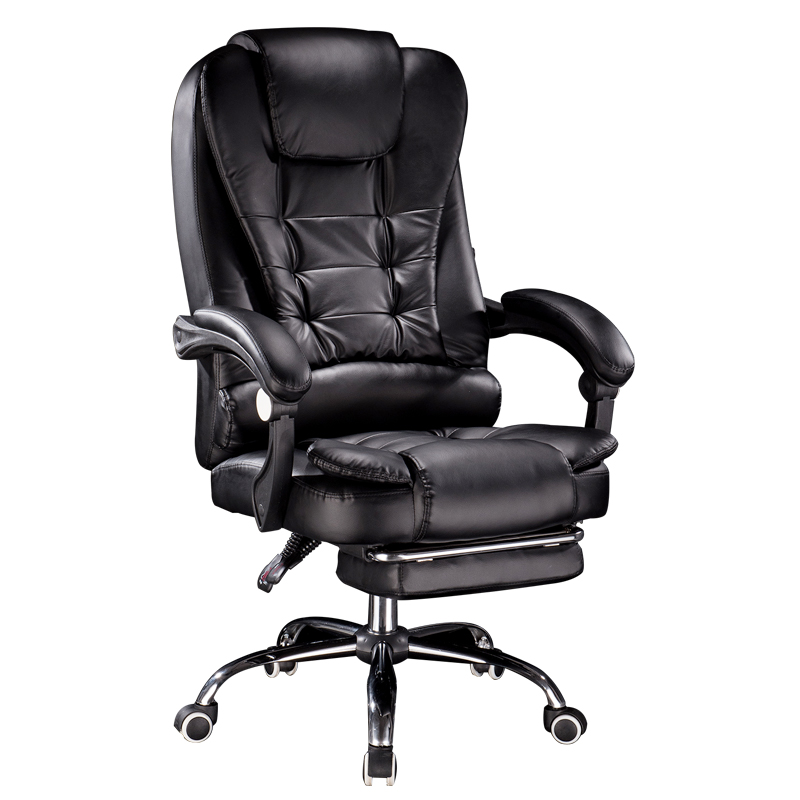 Genuine Leather Office Chair Household PU Massage Computer Chair Swivel Lift Gaming Chair Reclining Silla Oficina Silla Gamer