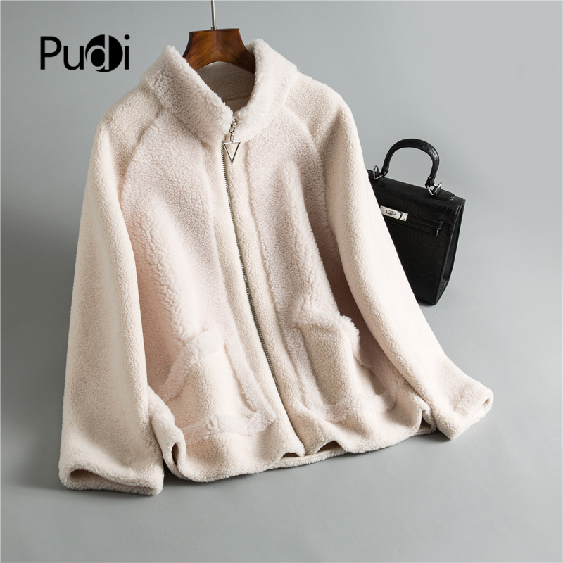 Winter Women 30% Real Wool Fur Coat Zipper Warm Casual Jacket Sheep Shearling Girl Fur Coats Lady Short Jacket Overcoat OMS911
