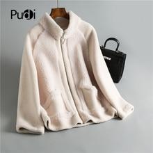 Winter women 30% real wool fur coat Zipper warm casual jacket sheep shearling girl fur coats lady short jacket overcoat OMS911 недорого