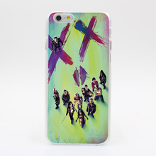 2302Y SUICIDE SQUAD POSTER CHARAKTERE Hard Case Transparent Cover for iPhone 4 4s 5 5s 5c SE 6 6s 7 & Plus
