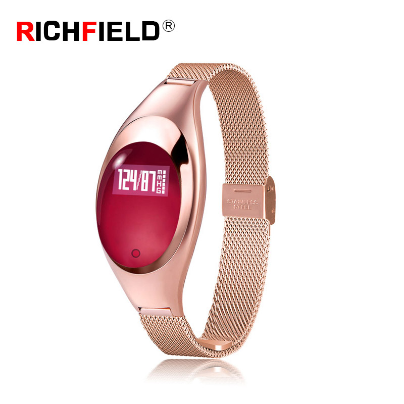 Z18 Women Smart Watch Female Fitness Bracelet Heart Rate Monitor Activity Tracker Smart Band Blood Pressure Pedometer Samrtband in Smart Wristbands from Consumer Electronics