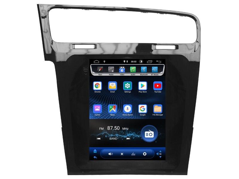 Écran Vertical android 8.1.0 gps navigation pour Golf 7 accessoires tesla voiture multimédia double zone stéréo radio BT4.0 unité de tête - 6