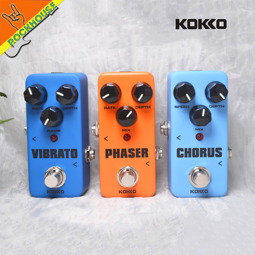 KOKKO Analog Chorus Guitar Effects Pedal Phaser Guitarra Pedal Tremolo Guitar Effect Pedal Stompbox True Bypass Free Shipping mooer ninety orange phaser guitar effect pedal micro analog effects true bypass with free connector and footswitch topper