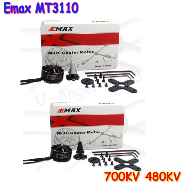 4set/lot Original EMAX Brushless Motor MT3110 700KV KV480 Plus Thread Motor CW CCW for RC FPV Multicopter Quadcopter