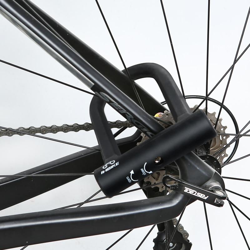 INBIKE Bike U Lock Anti-Diebstahl-MTB-Rennrad Fahrradschloss - Radfahren - Foto 6