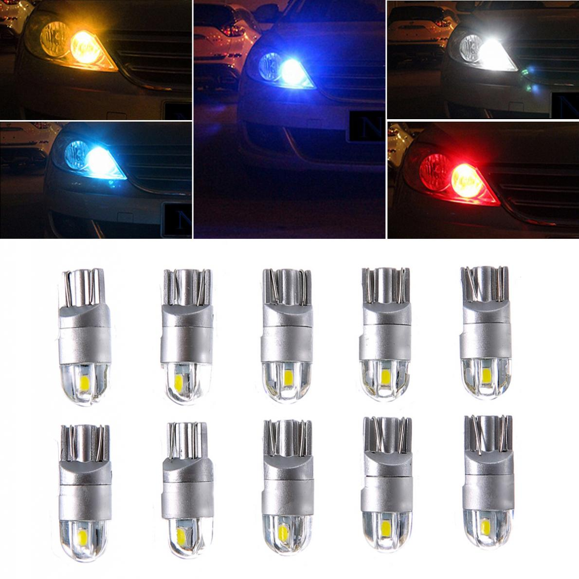 10x 12V W5W LED T10 3030 Car lamps 168 194 Turn Signal License Plate Light Trunk Lamp Clearance Lights Reading lamp itimo 10x t10 194 168 w5w 360 degree