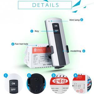Image 3 - 1/2/3 vie ON/OFF AC 200V 240V ricevitore Wireless lampada lampada telecomando interruttore nuovo