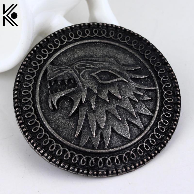 Game of Thrones House Logo Pins Targaryen Stark Iron Throne Badge Brooches