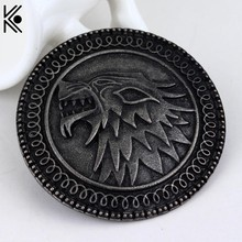 Squisito regalo Di Natale game of thrones spille Spille inverno sta arrivando Targaryen lupo punk di grandi dimensioni spille distintivo Accessorio Vestito(China)
