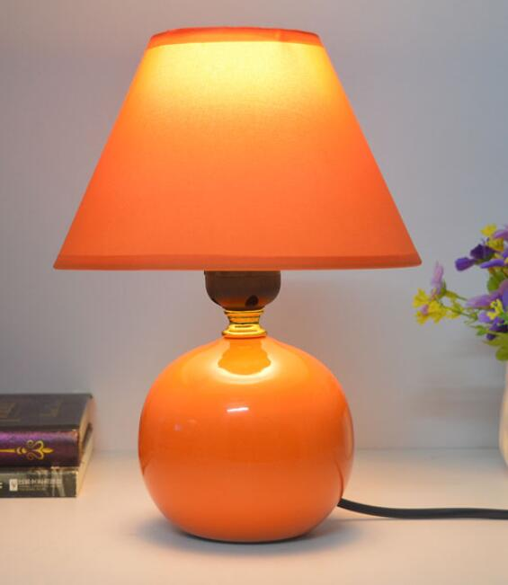 Bedroom bedside table lamp ceramic lamp simple childrens creative fashion garden wedding dimmable lighting FG742