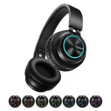 B6 casque sans fil Bluetooth 4.1 casque 12H temps de jeu stéréo casque lumineux écouteur avec micro pour Tv téléphone portable xiaomi