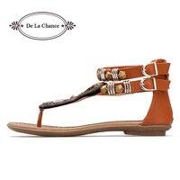 Новые женские сандалии-гладиаторы в римском и индийском этническом стиле кожаные сандалии на плоской подошве сандалии-гладиаторы женские ...
