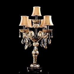 Nowoczesna stołowa lampy do sypialni kryształowa lampa stołowa z klosz z tkaniny LED oświetlenie stołu do salonu|light tap|lamp transportlight well -
