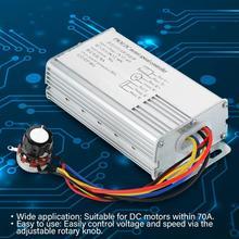 цена на DC Motor Controller 12V-60V 70A Adjustable Drive Control PWM Motor Speed Regulator Controller 4000W Linear Under Load Metal