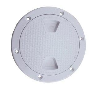 Image 4 - Cubierta de escotilla redonda de plástico para barco, cubierta de escotilla de plástico para barco marino RV, tornillo blanco, placa de inspección de cubierta