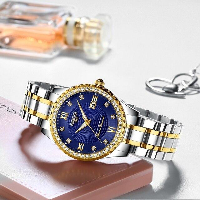 Luxury Gold Quartz Couples Wristwatch Set 2