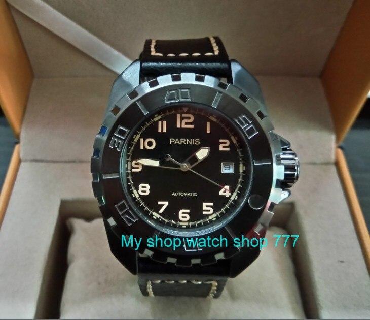 44 MM Parnis Japon de Automatique Auto-Vent mouvement Mécanique Hommes montre de Saphir cristal lumineux de luxe Mécanique montres 115