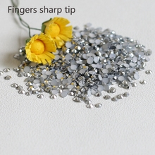 1000pcs 3mm New fashion Bling Jelly Nail Art Silver Mine AB Rhinestones Phone Case Shiny Beads Flat back N07