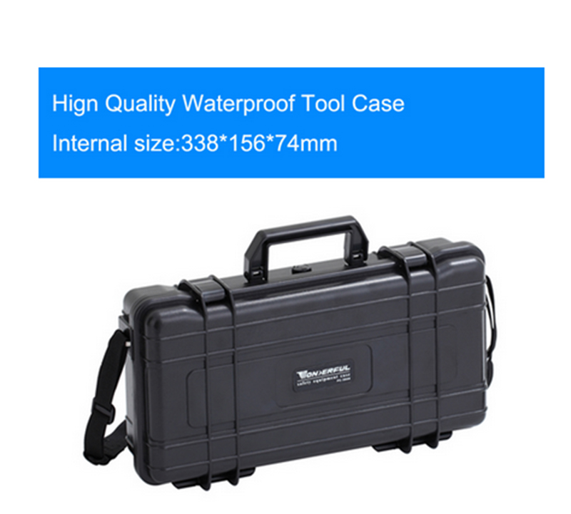 338*156*74mm Waterproof Tool Case Toolbox Camera Case Suitcase Impact Resistant Sealed With Pre-cut Foam Lining Shipping Free