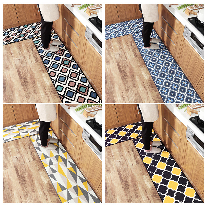 US $21.52 20% OFF|Kitchen Rugs Non Slip Backing Rug Runner Area Mats Check  Plaid Geometry Comfortable Resist Fatigue Laundry Room/Hallway Carpet-in ...
