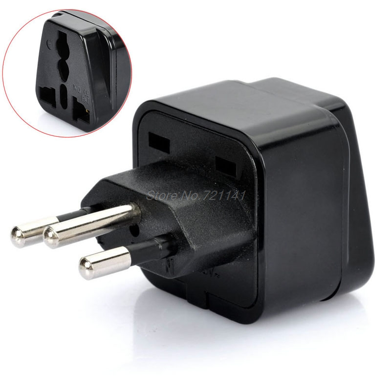 1 PC Universal United Kingdom/US/EU/Russia To Brasil Brazil Travel Power Adapter Plug Electronics Stocks
