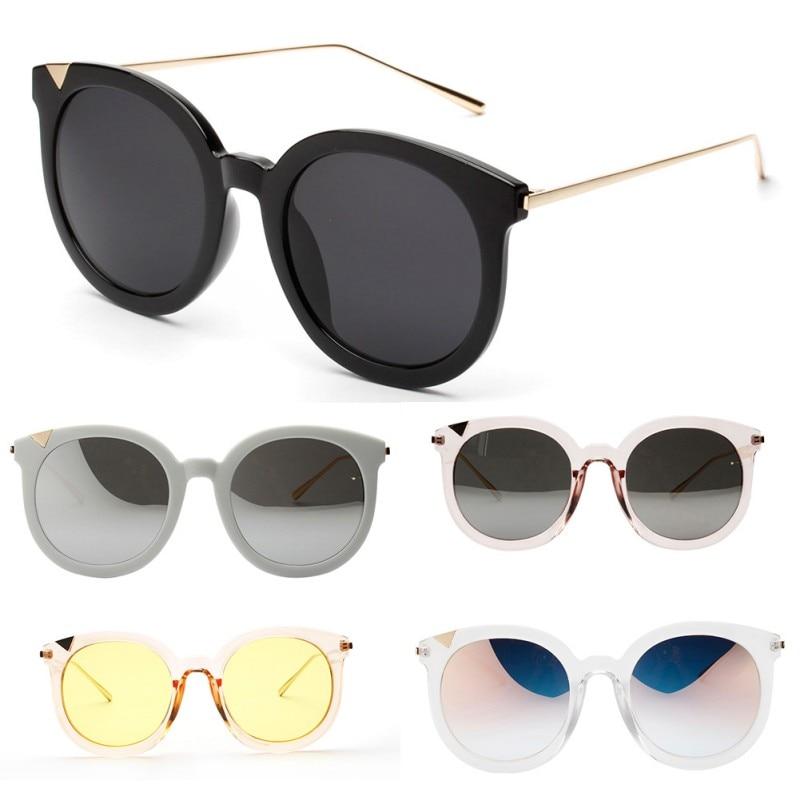 2017 Vintage Women Steampunk Gold Sunglasses Brand Design Round Sunglasses UV400