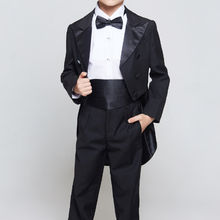 Boys Suit Costume Clothing-Set Weddings Formal Kids Children Black/white