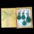 Jóias Vintage Cristal Preto E Verde Gota de Água Colar Brincos Set Anel Antigo de Prata Banhado Conjuntos de Jóias Para As Mulheres
