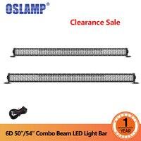 Oslamp 50 /54 прямо светодиодный свет работы бар Combo Луч 6D объектив внедорожных дальнего света автомобиль внедорожник пикап 4WD грузовик водить б