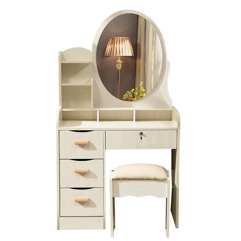 Camera Da Letto Slaapkamer Dresser Dresuar Mesa Toaletka Chambre Wooden Korean Quarto Bedroom Furniture Dressing Table wooden dressing table makeup desk with stool oval rotation mirror 5 drawers white bedroom furniture dropshipping