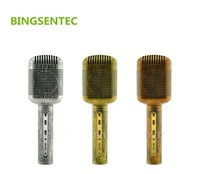 BINGSENTEC JY 51 Unique Retro Style Magic Karaoke Microphone Phone Player Bluetooth MIC Speaker Record Music For Iphone Android