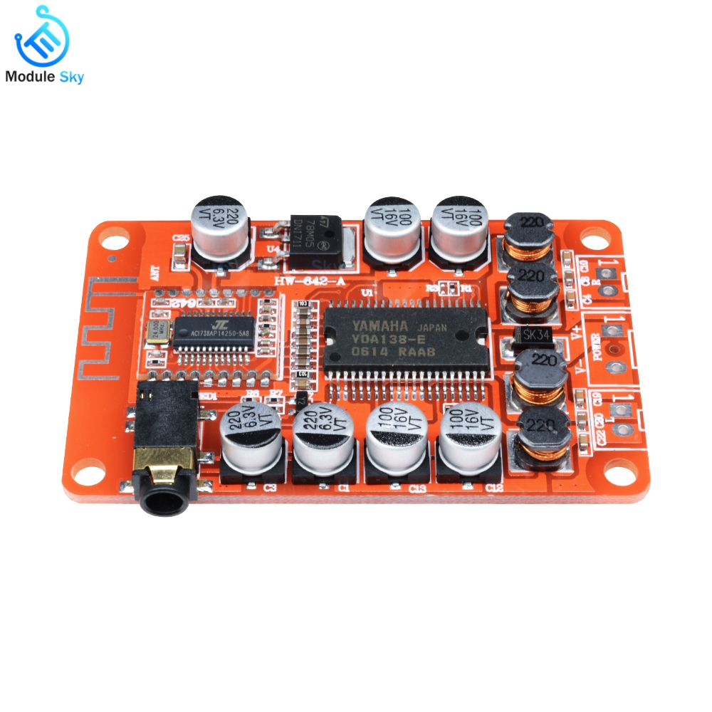 amplifier board yda138 bluetooth amplifier module 2 0 stereo class d low noise digital audio. Black Bedroom Furniture Sets. Home Design Ideas