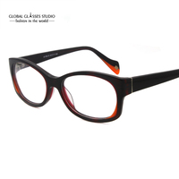 Super Fahion Estilo Várias Cores Design Grande Forma de Acetato De Atacado Dos Homens/Mulheres Óculos Óculos Ópticos Quadro X1168