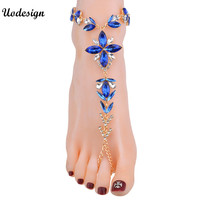 Multicolored Boho Wedding Party Summer Beach Foot Chain Sexy Women Anklets Bracelets Jewelry Fashion Shiny Anklets