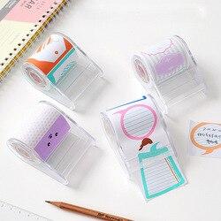 Criativo kawaii cor fita nota almofada coreia escola escritório papelaria teca para fora nota papel portátil post nota fita assento bloco de notas memorando