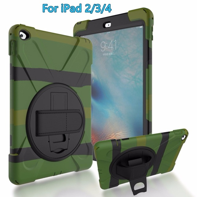 For Ipad 2 3 4 Rugged Case Heavy Duty Layer Cover