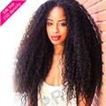 2016 4 * 4 шелк лучших парики странный вьющиеся шелковый топ фронта парик 6а полный человеческих волос парики 150% плотности для чернокожих женщин
