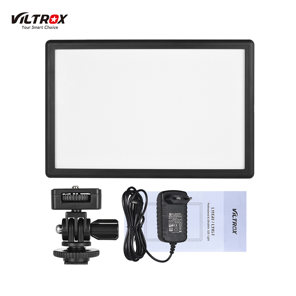 Viltrox L116T Camera Light Photo Studio Light Photography Lighting Led Video Light + Charger For Canon Nikon Camera DV Camcorder