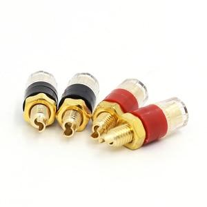 Image 1 - 12pcs Terminal Gold plating Binding Post for Speaker Amplifier Banana Plug
